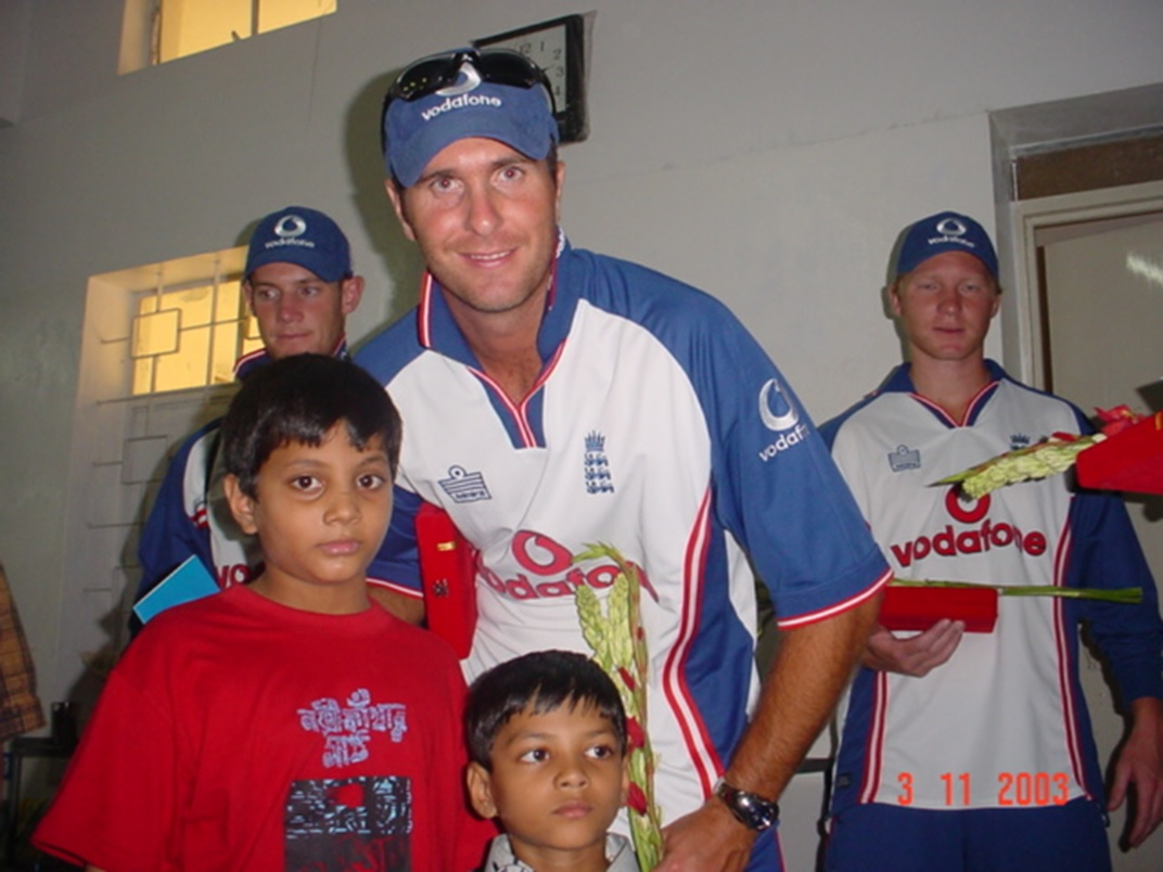 England cricket team visit at our hospital