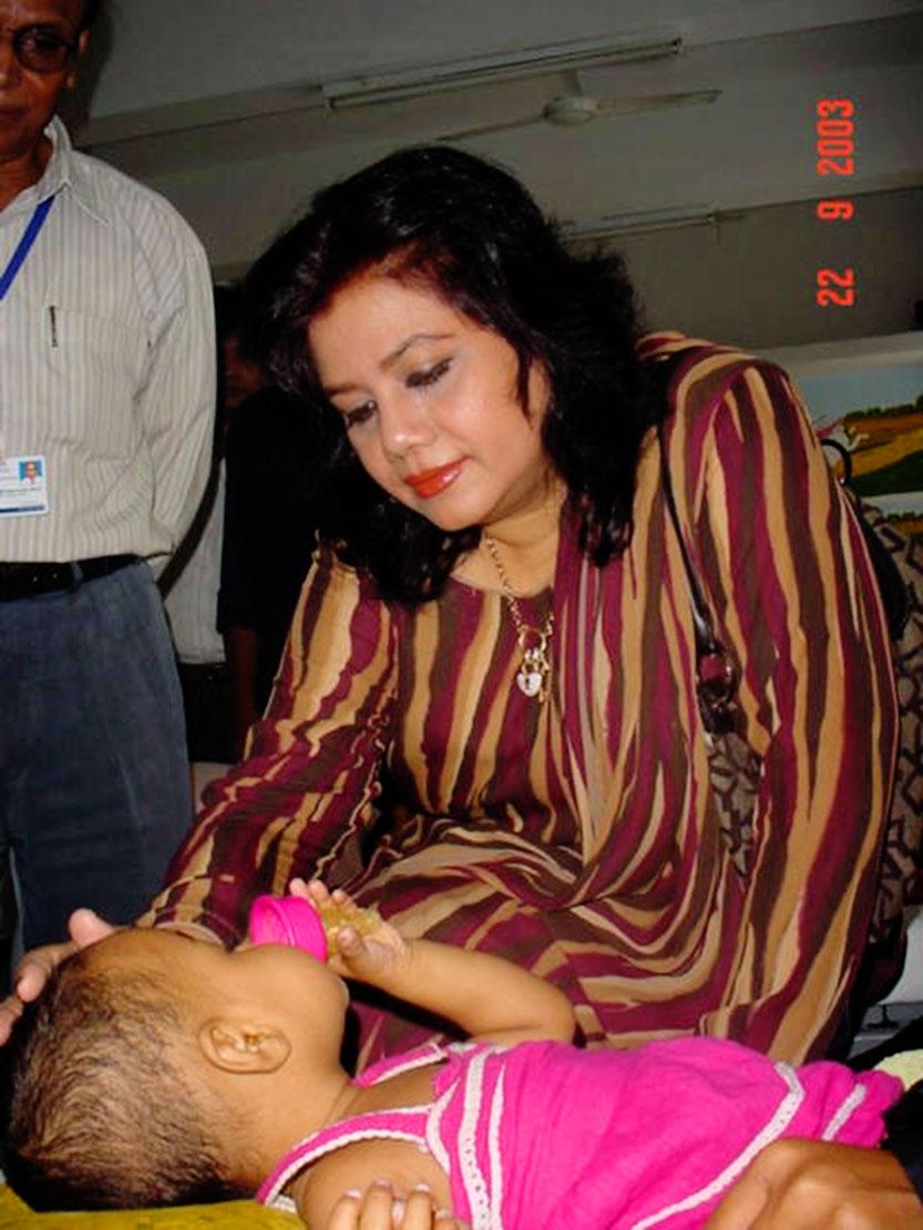 Bangladeshi playback singer Runa Laila visit at our hospital