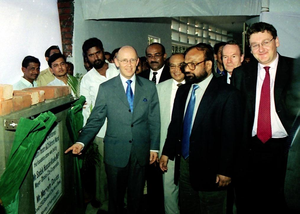 Standard Chartered Bank Group CEO. Mr. Mervyn Davies visit our hospital
