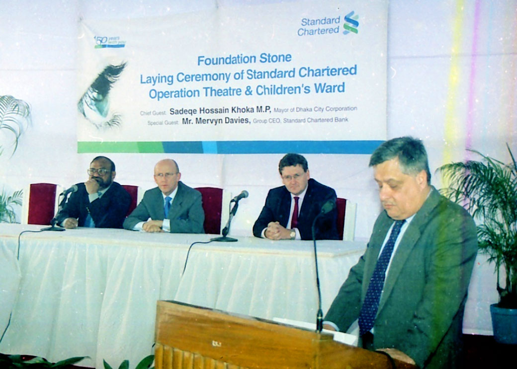 Standard Chartered Bank Group CEO. Mr. Mervyn Davies visit at our hospital