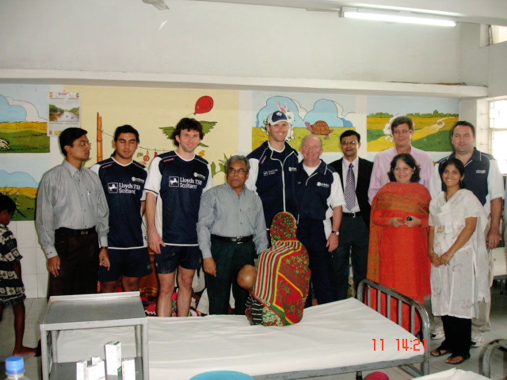 Scotland national cricket team visit at IIEI&H