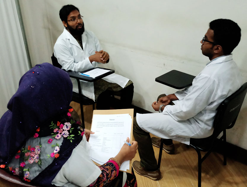 Mock test DO clinical exam on 9.8.2018 Session-July 2017 to June 2019